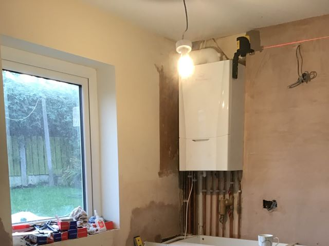 Start of another kitchen refurb ... new boiler fitted.